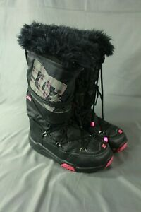 Womens DC Shoes Black Pink Snow Boots Size Large 89