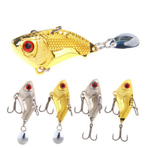 4 Pcs Fishing Lures Small Fish Shape 4.5cm16g Artificial Fishing Lures for Bass