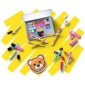 MOSCHINO + SEPHORA COMPLETE SCHOOL OFFICE BEAR SET PENCIL BRUSH LAPTOP MAKE-UP