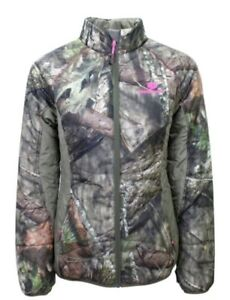 Mossy Oak Hunting Women Camouflage Insulated Full Zip Jacket Accents Country New