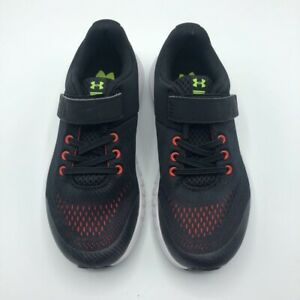 Under Armour Boys UA BPS Pursuit AC Running Shoes Black 3021356 Hook