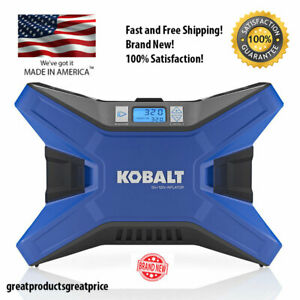 KOBALT Electric Portable Air Compressor 12Volt 20 Volt Tire Inflator 120 PSI NEW