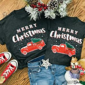 Christmas Family Matching Top Women Men Baby Girl Boy Kid T-shirt Blouse Clothes