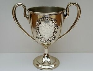 Vtg Old Antique Hot Springs Golf Club Sterling Silver Trophy Cup Won By CM Fair