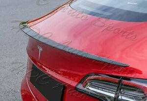 For 17-20 Tesla Model-3 OE-Style 100% Real Carbon Fiber Rear Trunk Spoiler Wing