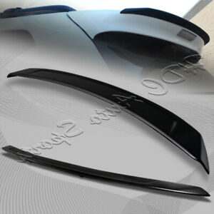 For 2011-2015 Toyota Sienna Painted Black ABS Rear Roof Lip Trunk Spoiler Wing
