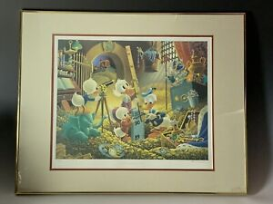 Signed Carl Banks Disney Donald Duck An Embarrassment Of Riches LE Lithograph