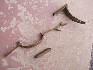 ORIGINAL Vintage Brass muzzleloading trigger guard buttplate & thimble
