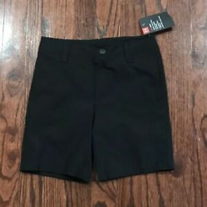 NWT Boys Youth Under Armour Golf Shorts Black Size 7 27C55017 $30 $19.99