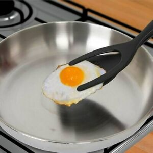 Grip and Flip Spatula Tongs 2 In 1 Tongs Clamp Pancake Fried Egg French