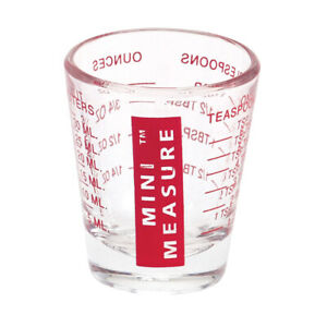 Mini Measure Multi Purpose Measuring Cup Shotglass Red