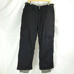 Burton Womens Size Large Cargo Snowboard Ski Outdoor Pants Black Vented Lined