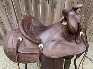 Powder River Western Saddle by Denver Dry Goods Vintage Ranch Trail Pleasure