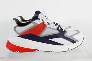 Under Armour Forge 96 Track White Navy Lace Up Men's Training Shoes Size 13