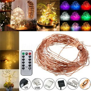 5/10/20M LED Copper Wire Strip String Fairy Light Wedding Xmas Party Home