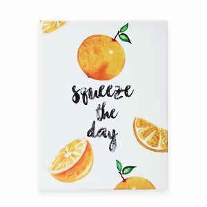 Squeeze the day Wall Art Orange Inspired Canvas Poster Painting Home Decor