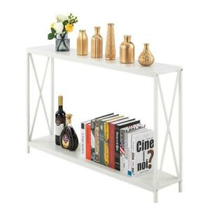 Hot Console Table Modern Sofa Accent Shelf Stand Entryway Hall Furniture Wood $55.19