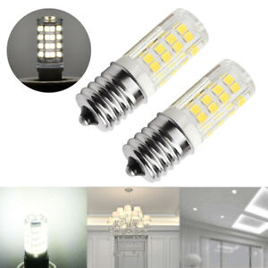 Pair Microwave LED Replacement Light Bulb for Appliance E17 Socket 4W Oven Bulbs