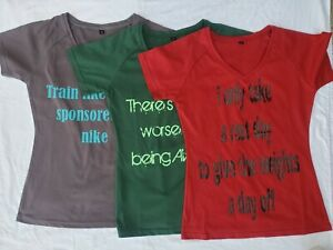 Custom gym shirt with quote His amp; Hers T shirts fitness gym shirts workout casua $10.99