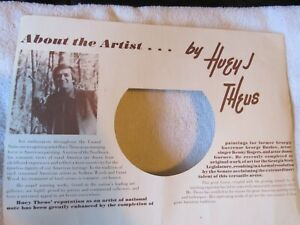 Vintage Lithographs by Huey J. Theus The Past Remembered Prints 4 $22.00