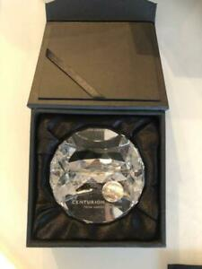 American Express Black Card Centurion Birthday Gift Crystal Glass Paper Weight