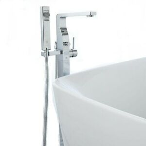DXV D35900900.100 Square Floor Mount Bathtub Faucet & Shower in Polished Chrome   $1,100.00