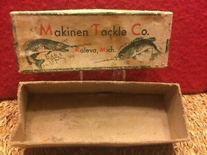 Vintage Makinen Tackle Company (BOX ONLY) with Marked End P10D