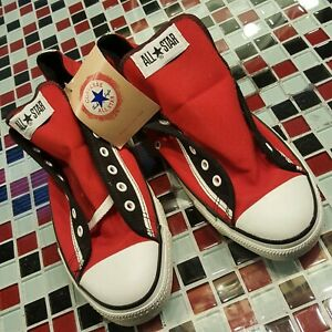 VTG NWT USA Converse All Star Chuck Taylor Red Black Canvas Suede Sneakers 10.5