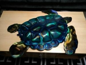 nautical wall art large contemporary metal turtle Wall art indoor outdoor art