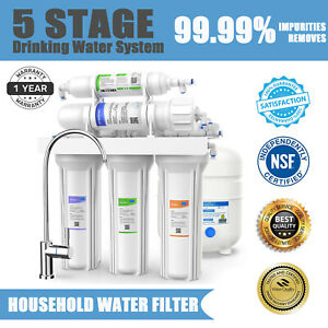 100GPD 5 Stage Under Sink Reverse Osmosis System Drinking Water Filter Purifier $115.99