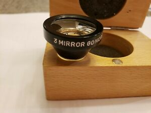 3 Three Mirror Gonioscope Gonio Lens Black With Secured Case