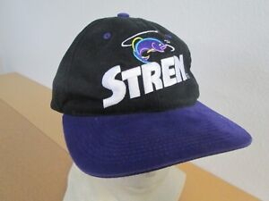 Mens STREN Fishing Line Tournament Purple Black Retro Golf Hat