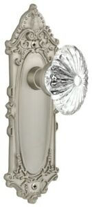 Nostalgic Warehouse VICOFC_PRV_234_NK Oval Fluted Crystal Solid - Nickel
