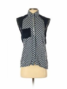 The Clothing Company Women Blue Sleeveless Blouse S