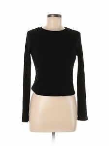 One Clothing Women Black Long Sleeve Top L