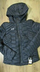 NEW UNDER ARMOUR Womens COLDGEAR REACTOR HOODED JACKET 1300268 S,M $65.00