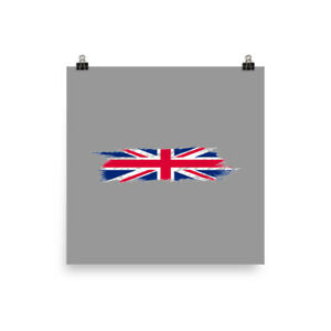 Poster Hand Painted Wall Art Design of the UK Flag United Kingdom