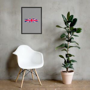 Framed poster Hand Painted Wall Art Design of the UK Flag United Kingdom