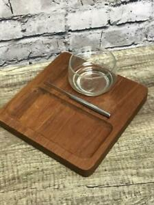 Kalmar Teak Wood Made in Thailand Charcuterie Board Serving Set Holiday Party