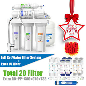 5 Stage Reverse Osmosis Home Drinking Water Filter System Purifier Extra Filters $144.99