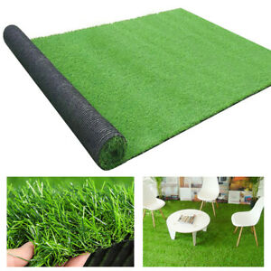 Artificial Grass Carpet Green Fake Synthetic Garden Landscape Lawn Mat Turf