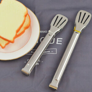 2pcs Food Tongs Multifunctional BBQ Tong Kitchen Tools Bread Clip for Steak Meat