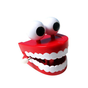 Funny Playful Novelty Kids Toys Gifts Chattering Moving Wind Up Teeth with Eyes