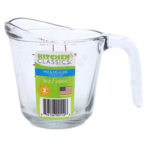 Kitchen Classics 1 Cups Glass Clear Measuring Cup