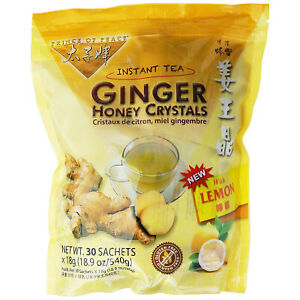 PRINCE OF PEACE Ginger Honey Crystals with Lemon Instant Tea 30x18g Sachets