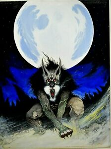 RANDY BROECKER PAINTING BOOK COVER BLACK WOLF COPY OF THE HB BOOK $1500.00