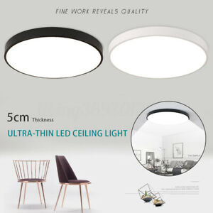 LED Ceiling Down Light Ultra Thin Flush Mount Kitchen Round Lamp Home Fixture US