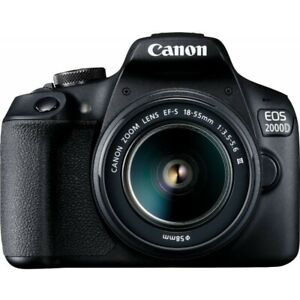 Canon EOS 2000D Rebel T7 24.1MP with EF S 18 55mm III Lens