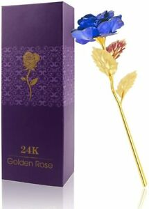 VALENTINE'S DAY GIFT FOR HER 24K Gold Foil Artificial Rose for Wife Girlfriend