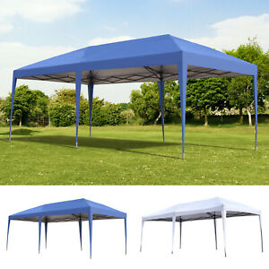 10' x 20' Outdoor Gazebo Pop Up Canopy Party Tent with 2-Tier Roof